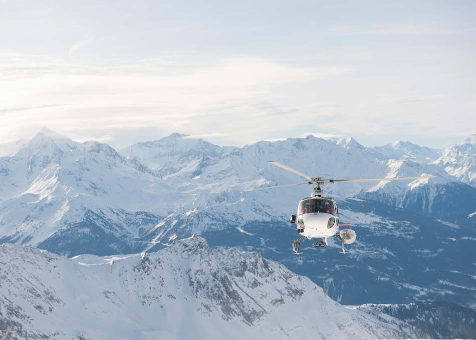 A Helicopter ride or Heliski Trip