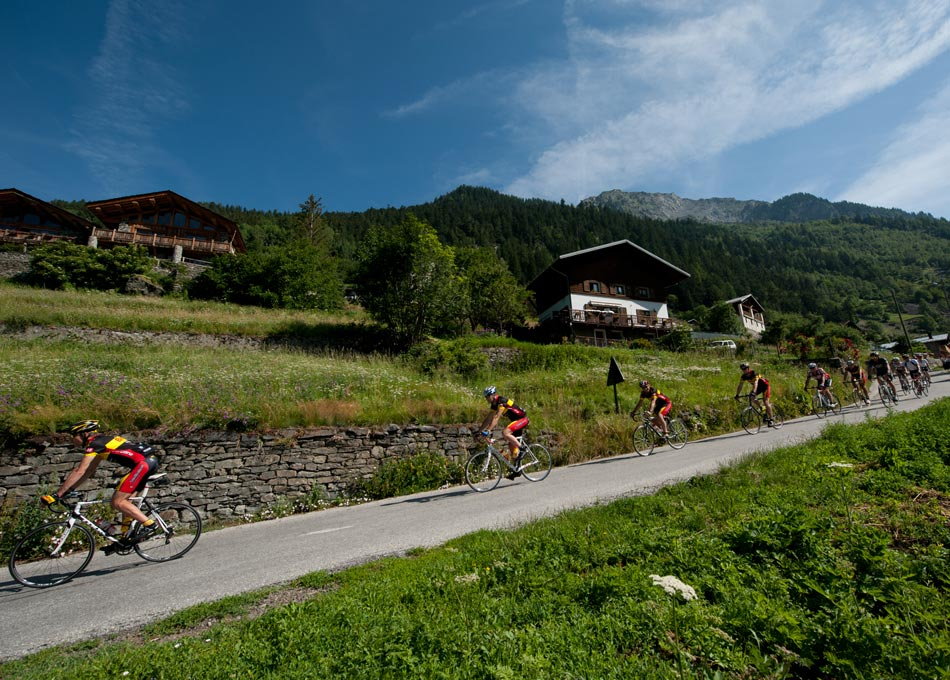 Cycling a route from Chalet Merlo